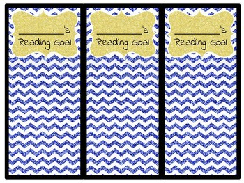 Reading Goal Bookmarks - GLITTER