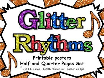 Glitter Rhythms - Half and Quarter Pages