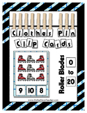 Glitter Roller Blades Clip Counting Cards 0 to 20 Kinderga