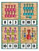 Glitter Sand Shovels Count to 20 Clip Card Math Center ~ Home School Preschool