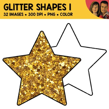 Glitter Shapes Clipart 1