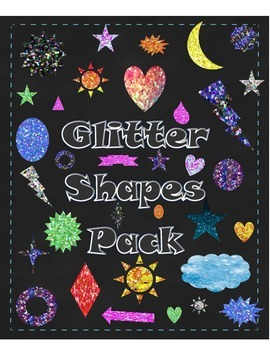 ~Glitter Shapes Clip Art MEGA Pack~
