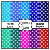 Glitter Snowflake Digital Background Papers {8.5 x 11} Cli
