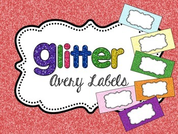Glitter Solids Editable Classroom Labels 2x4 { Avery Label 8163 }