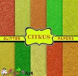 Glitter Sparkle Digital Papers Citrus Theme