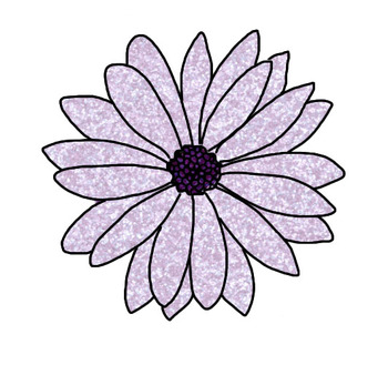 Glitter Spring Flowers Clip Art: Commercial & Personal Use (6 Images)