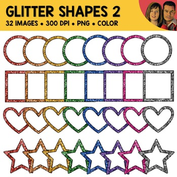 Glitter Shapes Clipart 2