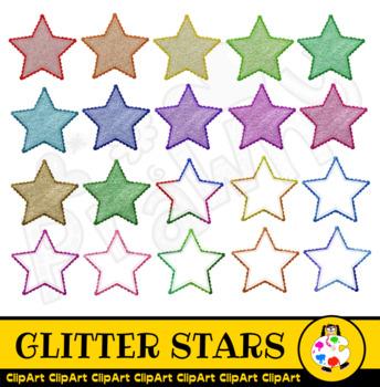 Glitter Star Clip Art