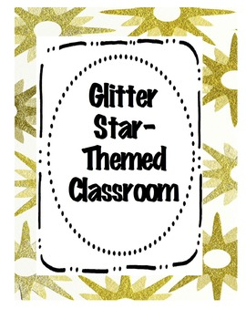 Glitter-themed Classroom Decor