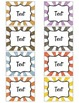 Glitter Starburst Tags for Cubbies, Name Tags and Coat Hooks