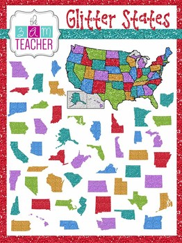 Glitter States: US State Graphics & Maps