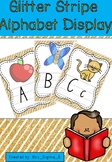 Glitter Stripe Alphabet display NSW font