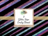 Glitter Stripe Overlay