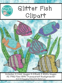 Glitter Tropical Fish Clipart