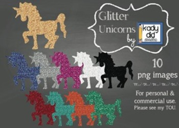 Glitter Unicorns {10 images} for personal and commercial use