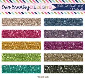 Glitter Washi Tape Clipart
