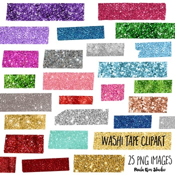 Glitter Washi Tape Clipart