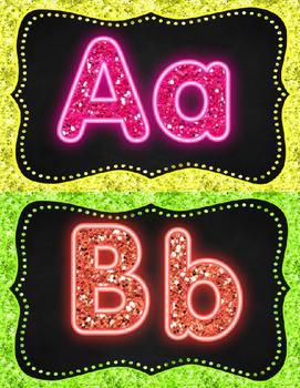 Glitter Word Wall (editable)