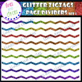 Glitter ZigZag Page Dividers Set 1