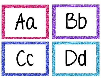 Glitter alphabet cards