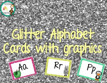Glitter alphabet cards WITH graphics