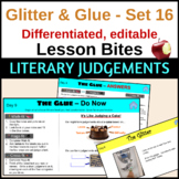 Making Literary Judgements or Literary Criticism