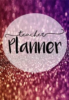 Glitter themed Assessment Book