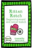 Beginning Sound and Letter Match Game- Mitten Match