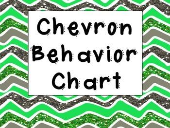 Glittered Chevron Behavior Chart
