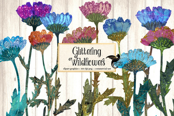 Glittering Wildflower Clipart