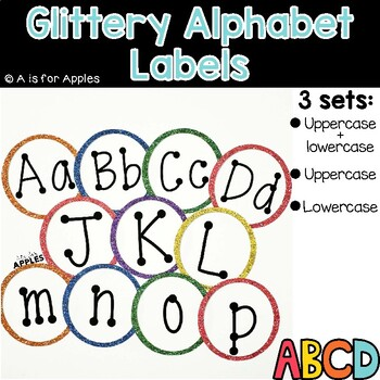 Glittery Alphabet Labels