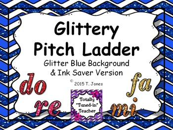 Glittery Blue Background Printable Pitch Ladder