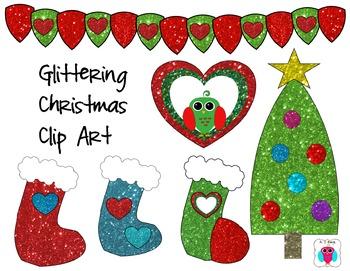 Glittering Christmas Clip Art