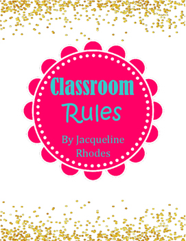 Glittery Classroom Rules