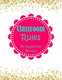 Glittery Classroom Rules