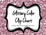 Glittery Color Clip Chart