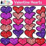 Valentine's Day Hearts Clip Art {Red, Pink, & Violet Glitt