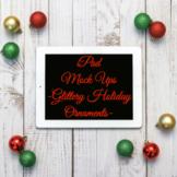 Holiday iPad Mockups (Stock Photos) l Glittery Ornaments