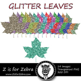Glittery Maple Leaf Clipart - CU OK! { ZisforZebra }