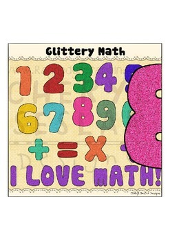 Glittery Math Clipart Collections~Numbers