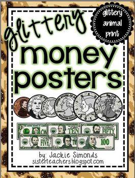 Glittery Money Posters *glittery animal print*