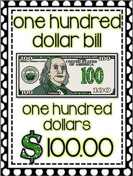 Glittery Money Posters *polka dots*
