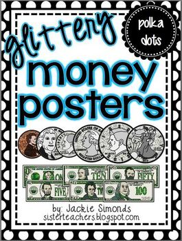 Glittery Money Posters *polka dots*