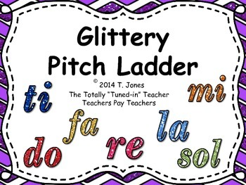 Glittery Pitch Ladder - Do Re Mi Fa Sol La Ti Do