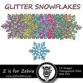 Glittery Snowflake Clipart - CU OK! { ZisforZebra }