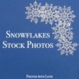 Seasonal Stock Photos l Glittery Snowflakes