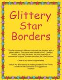 Glittery Star Borders