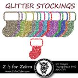 Glittery Stockings Clipart - CU OK! { ZisforZebra }