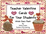 Glittery Teacher Valentine Cards: Whole Class Pack