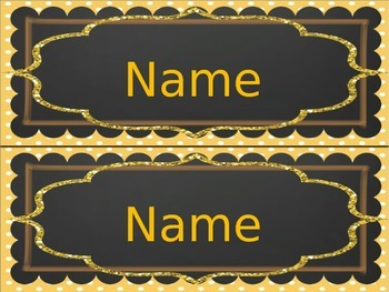 Glittery Tote Tray / Desk name plates